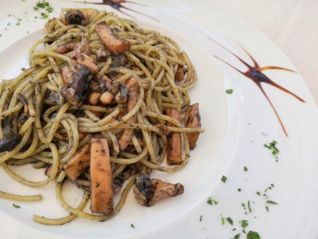 Spaghetti al Nero di Seppia - Squid Ink Spaghetti