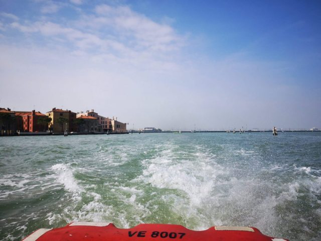 On the way to Burano from Venice on the Vaporetto