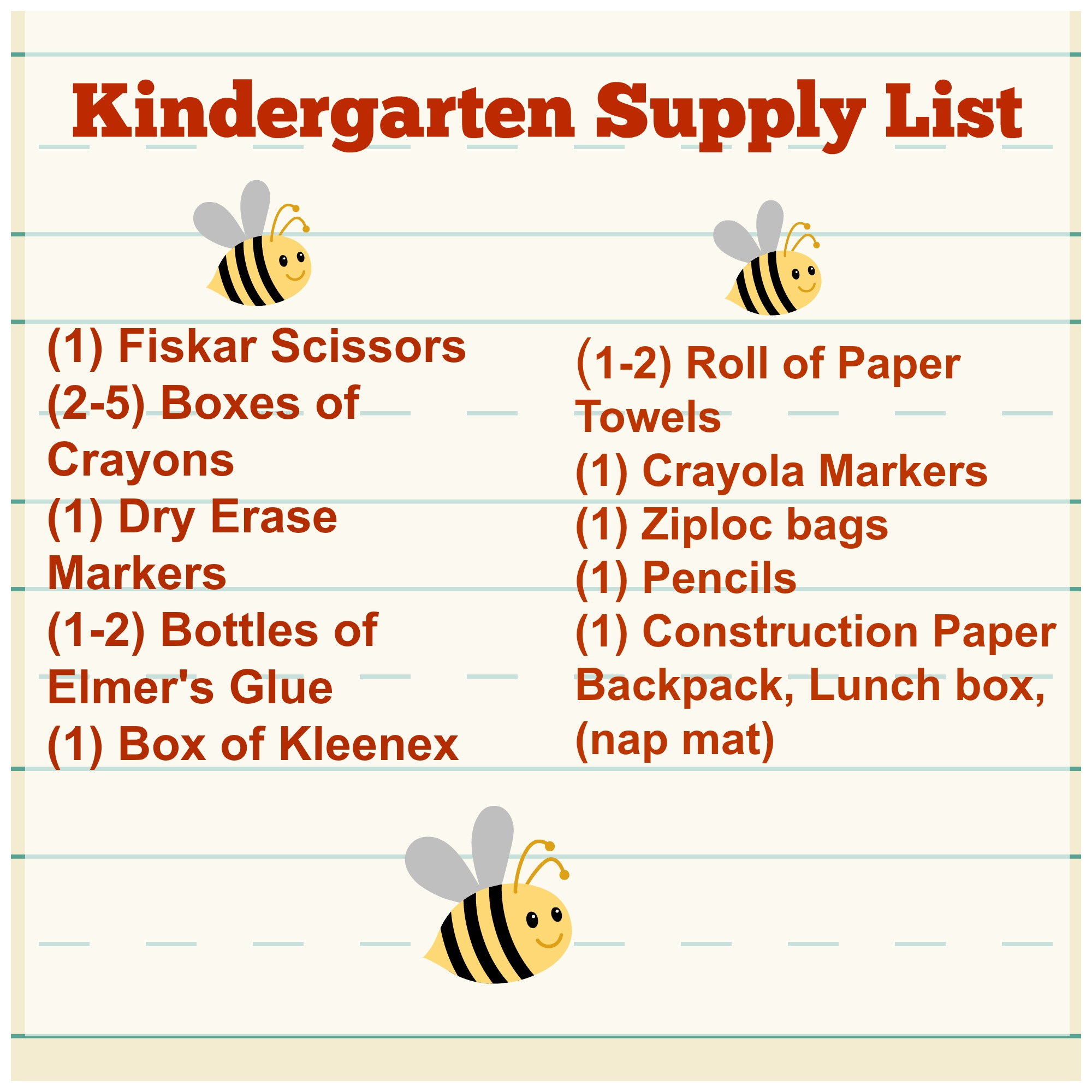 Getting Ready For Kindergarten Tips Supply List Tales