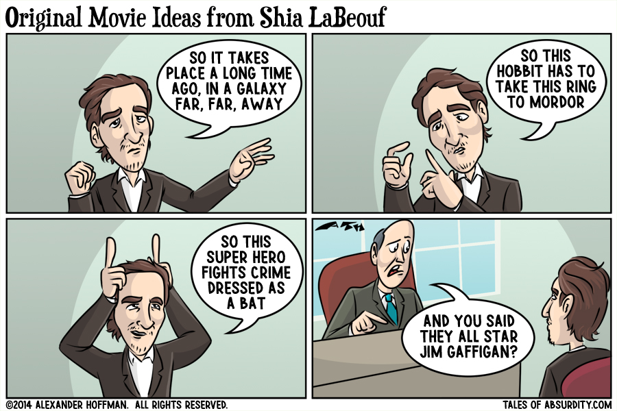 Original Movie Ideas from Shia LaBeouf