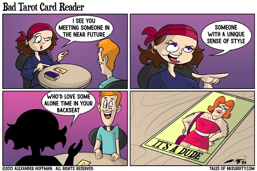 Bad Tarot Card Reader