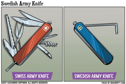 Swedish Army Knife Tales Of Absurdity