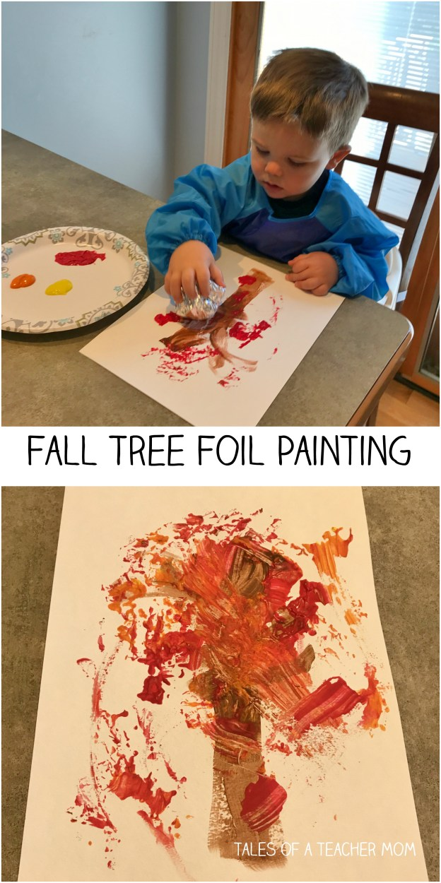 Fall Tree Foil Painting Tales Of A Teacher Mom