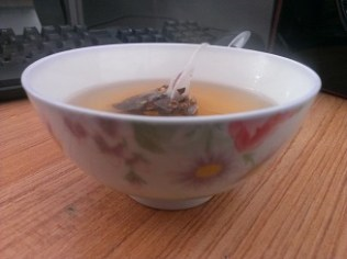 My tiny bowls of tea at work
