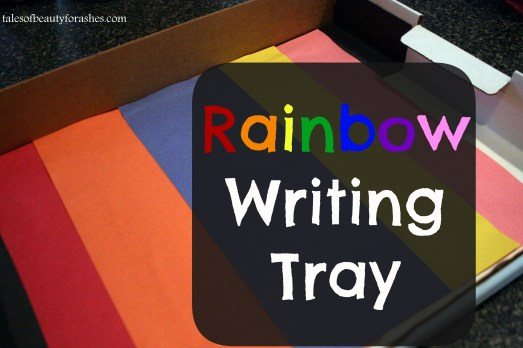 rainbow writing tray