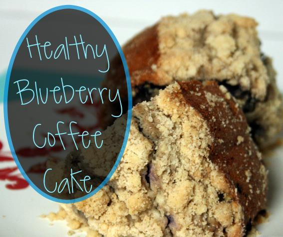 healty blueberry coffee cake