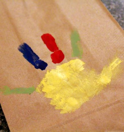 Turkey Handprint gift bags (2)