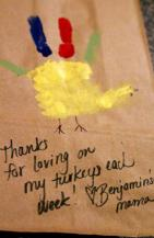 Turkey Handprint gift bags (3)