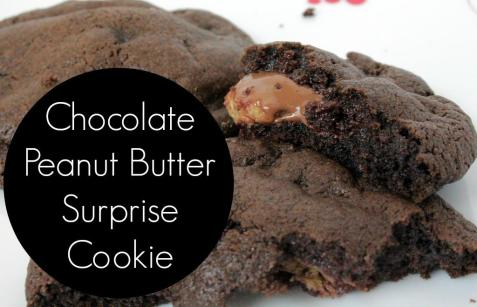 chocolate peanut butter surprise!!