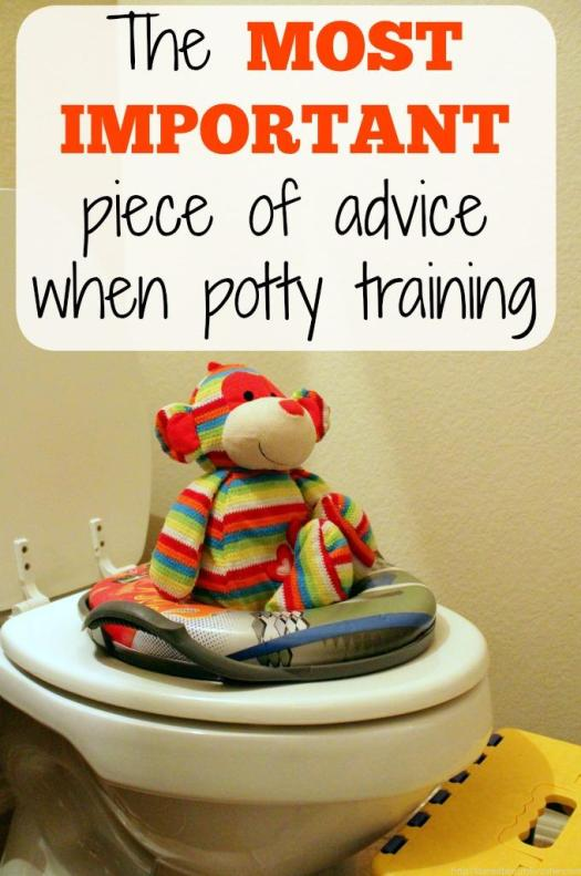 Potty training isn't rocket science, but if you don't follow this one piece of advice your hopes for a potty trained toddler might just come crashing down.