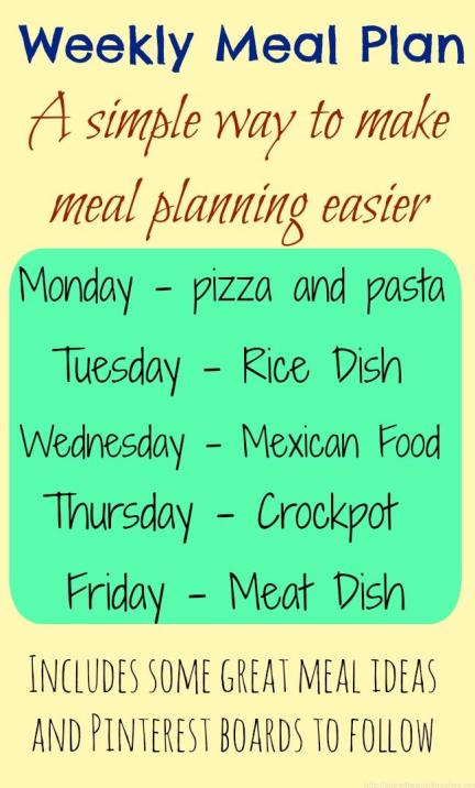 Weekly Meal Plan ideas to get you started!
