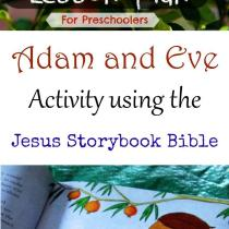 Adam and Eve activity using the Jesus Storybook Bible!