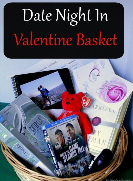 This is such a great idea for Valentine's Day (or any day) Love this romance basket for a date night in!