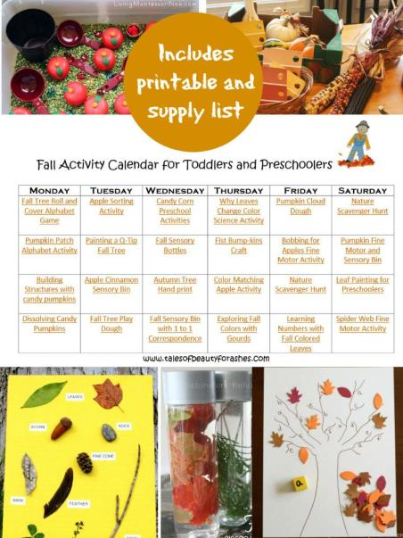 This activity calendar for fall is such a great way to keep your toddler and preschoolers learning AND having fun!