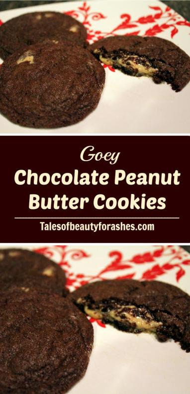 Goey Chocolate Peanut Butter Cookies, these are the best cookies ever! If you like goey cookies, these are the ones to make.