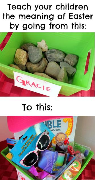 Teach your child the true meaning of Easter through these Jesus Blessing Baskets. What a wonderful idea!