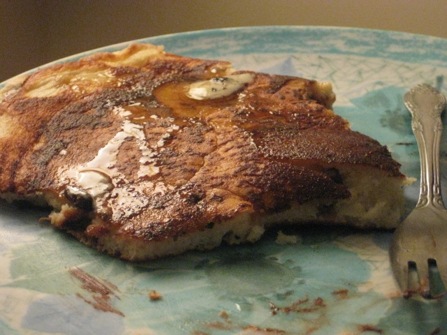 giant chocolate chip pancake (after I had already eaten 2/3 of it). I cleaned the plate, of course!