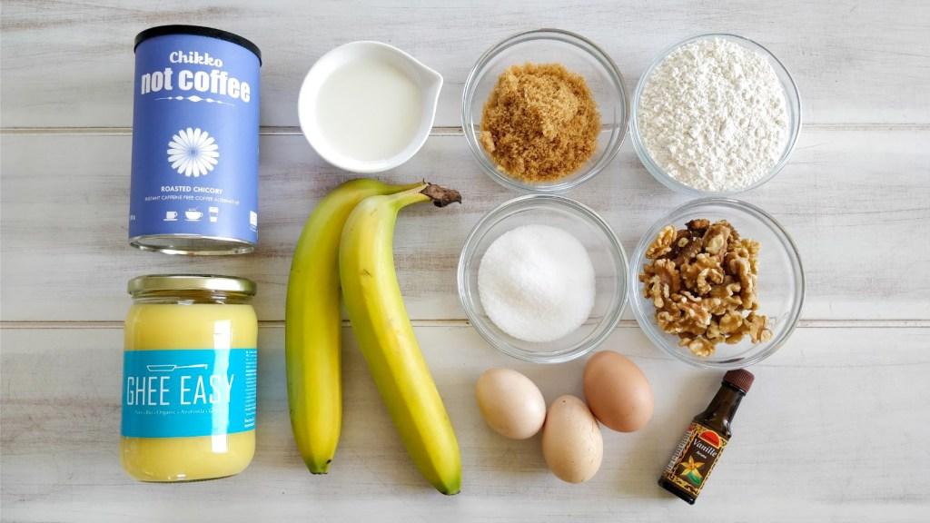 Ingredients Nutty Banana, (no)Coffee, Ghee cake