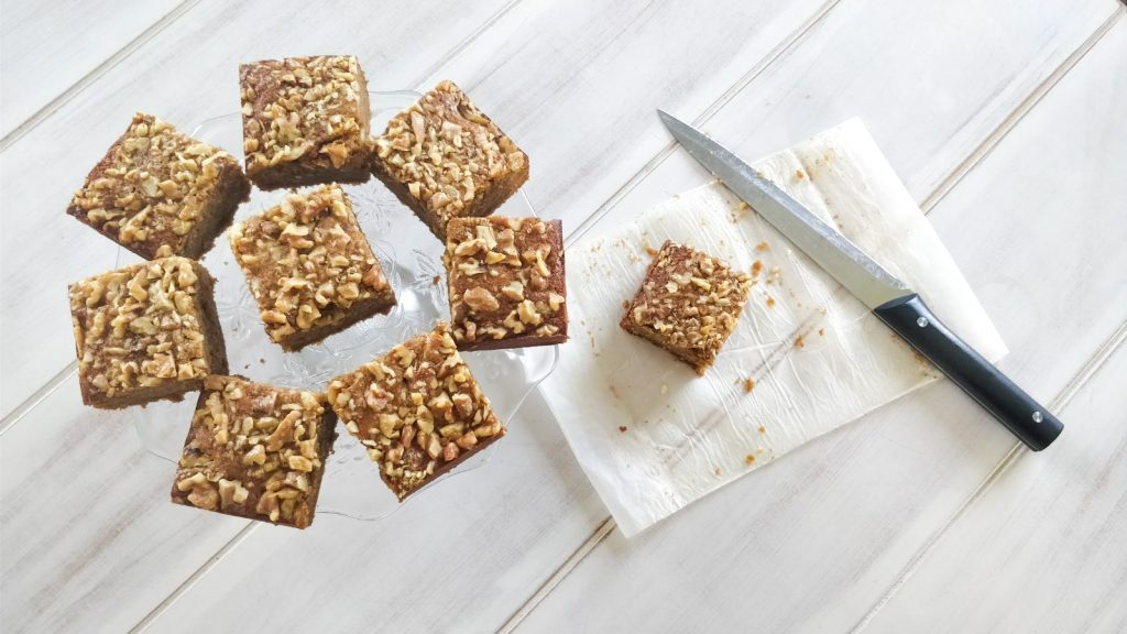 Nutty Banana (not)Coffee Ghee Cake squares