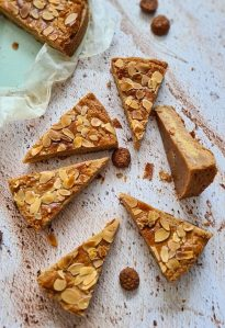 Dutch Speculaas tart with Almond filling