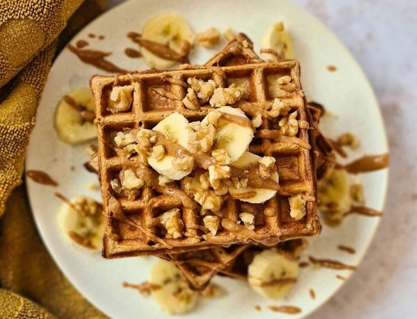 Gluten-free Banana breakfast waffles recipe