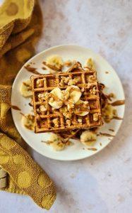 Gluten-free Banana breakfast waffles