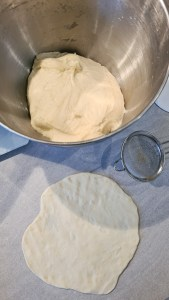 Turkish pizza dough shaping