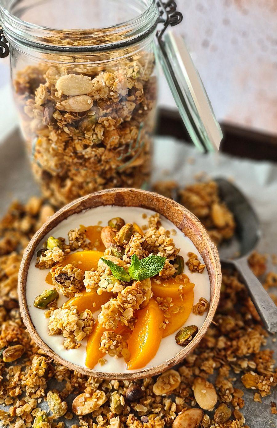 Sesame, Almond, Pistachio & Orange blossom Granola