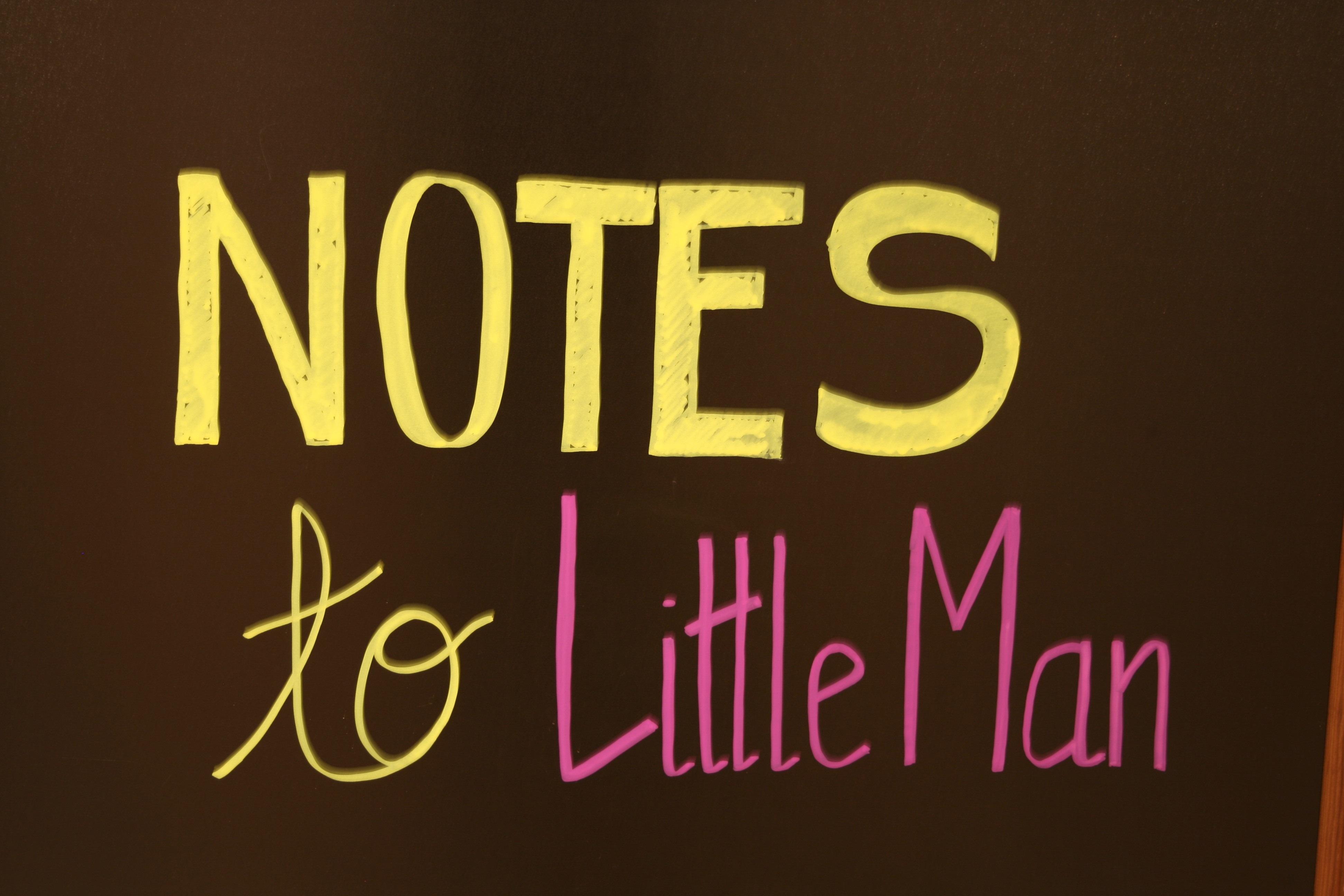 Notes to Little Man at TalesofTwoChildren.com
