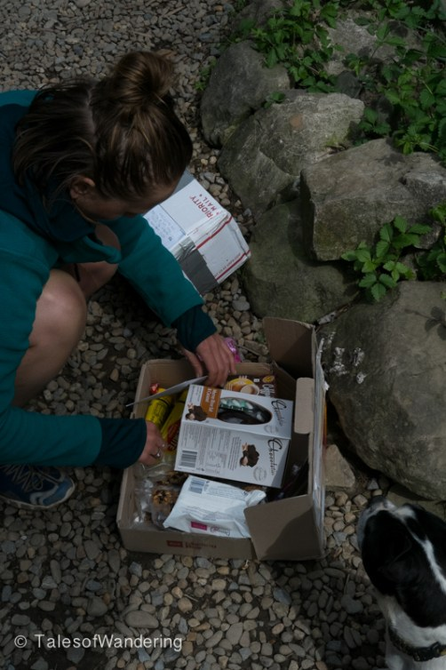 Mountain Goat opening her care package from her mom.