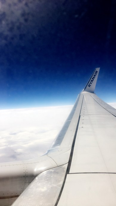 View from aeroplane (Photo credit: Talie Colbourne)