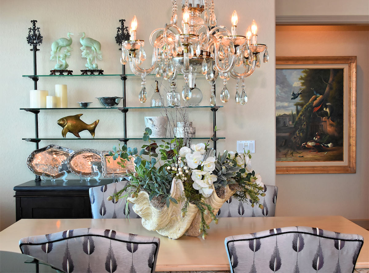 Oceanfront Penthouse Dining Room by Talie Jane Interiors