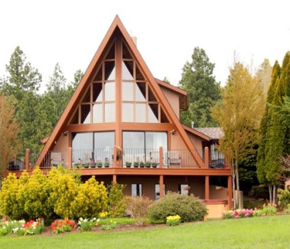 A-frame home, A-frame design, Lake Tahoe, Talie Jane Interiors