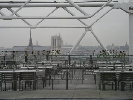 pompidou 5.korrus ja hyljatud kohvikuterass