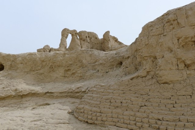 Ancient Ruins Of Jiaohe City, built with Adobe. It is about 2000 years old.