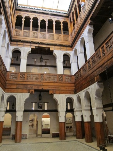Example of an open roof Moroccan Riad