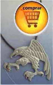 águila joya amuleto de plata