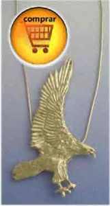 águila de plata amuleto