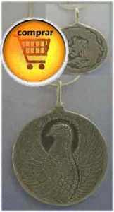 Phoenix y dragón amuleto chino reversible de plata