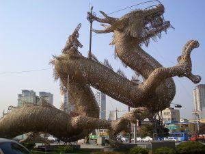 Corean dragon esculture