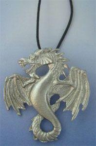 silver dragon pendant Fafnir