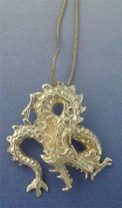 Dragon pendant Fuku riu silver