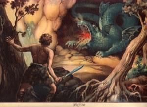 Sifrido fightin Fafnir dragon
