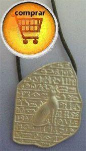 Bastet silver pendant