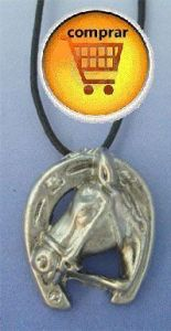 horse and horseshoe amulet