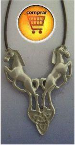 Rhiannon horses pendant silver
