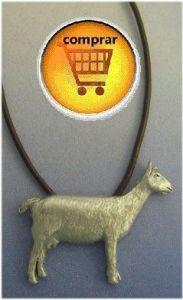 goat pendant silver totem
