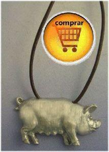 pig pendant silver