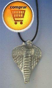 cobra snake silver pendant