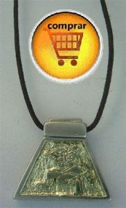 rabbit  aztec horoscope silver pendant